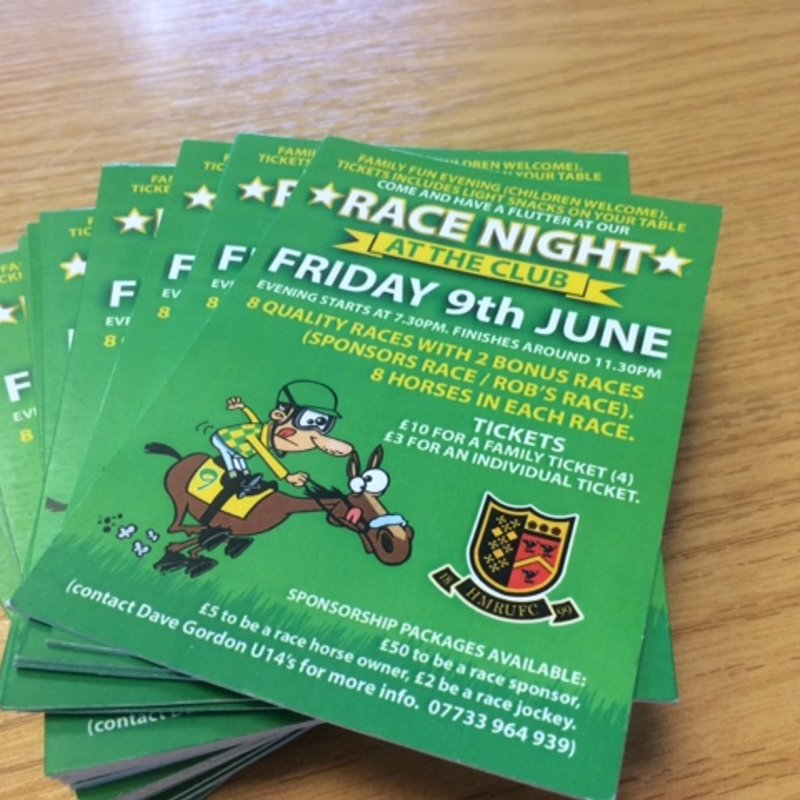 All 10 SPONSOR PACKAGES GONE !   RACE NIGHT 9TH JUNE