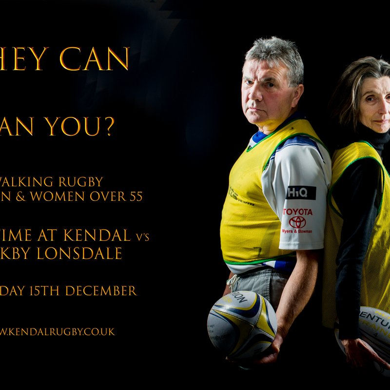 Walking Rugby - A Demonstration, Saturday 15th December