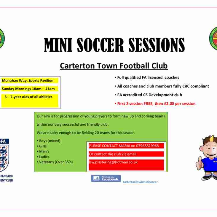 Carterton Town FC Mini Soccer Sessions