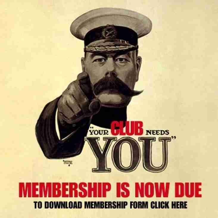 Memberships overdue!