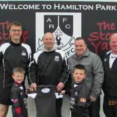 Ards mini rugby welcomes sponsors to Hamilton Park