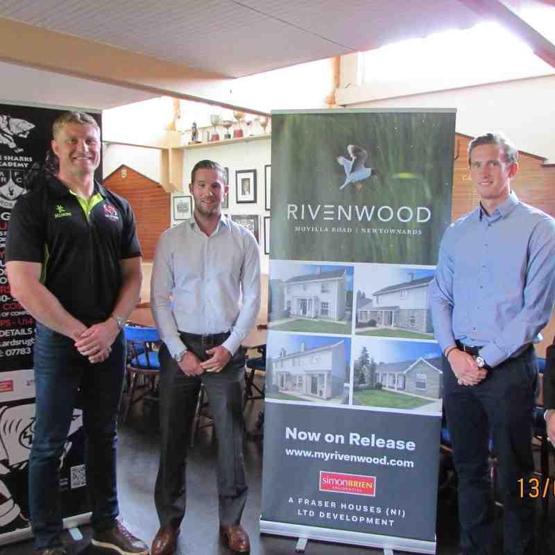Franco vender Merwe, Andrew & James Fraser (Fraser Houses), Ricky Sadler (Ards RFC Vice President)