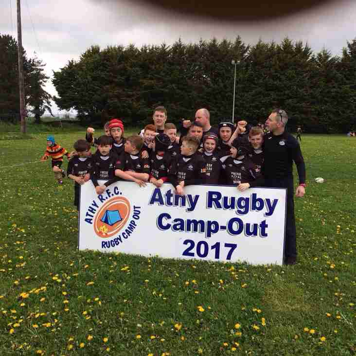 P7 attend 2017 Athy Rugby Camp Out