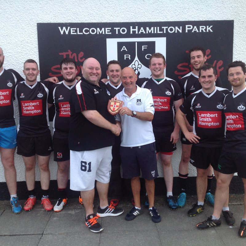 Black Knights presented with League Winners Shield
