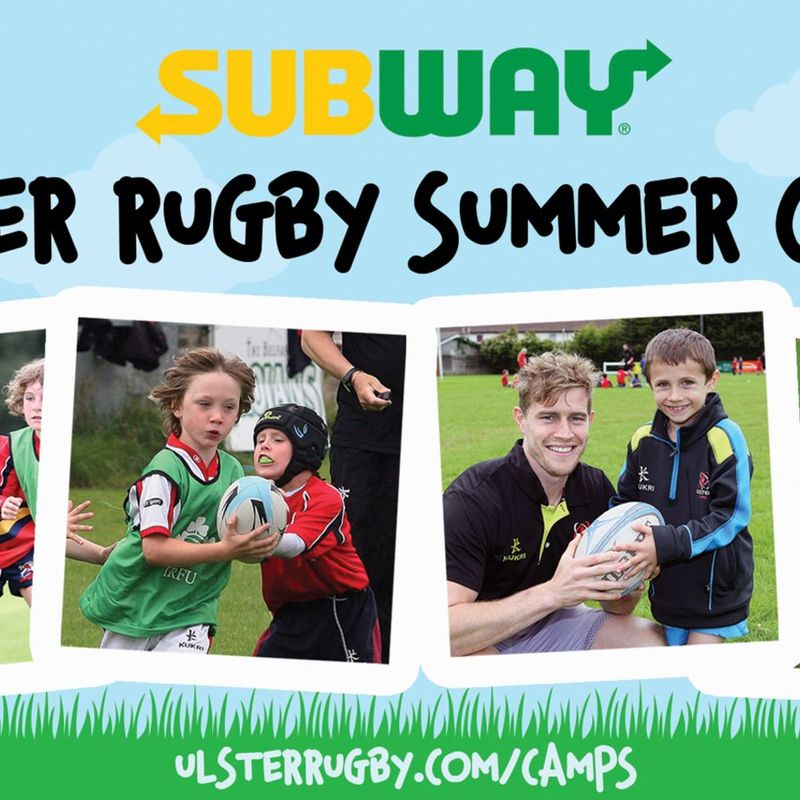 Subway Ulster Rugby Junior Summer Camp
