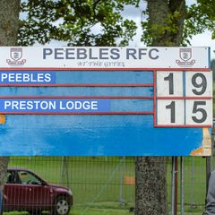 Peebles RFC v Preston Lodge RFC (19-15)