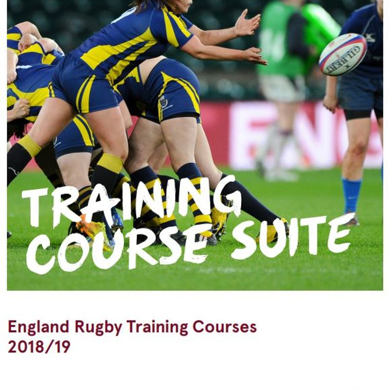 RFU Training Course Booklet for 2018-19