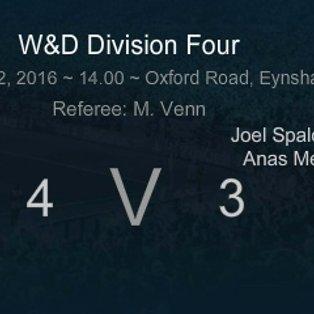 MATCH REPORT: Eynsham SSC Res. 4 - 3 Spartan Rangers A