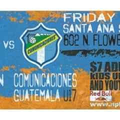 Fullerton Rangers U17 vs Comunicaciones de Guatemala U17