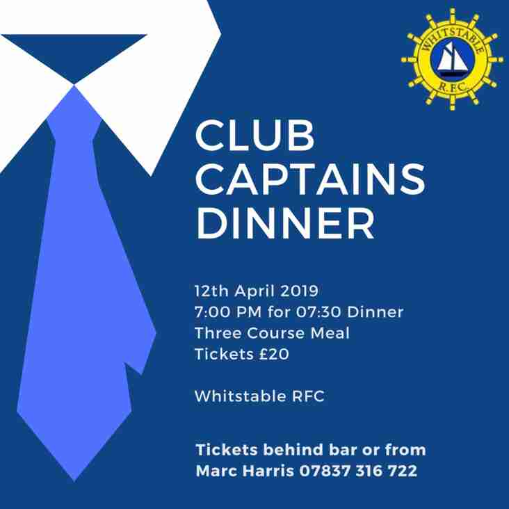 Club Captains Date Comfirmed!