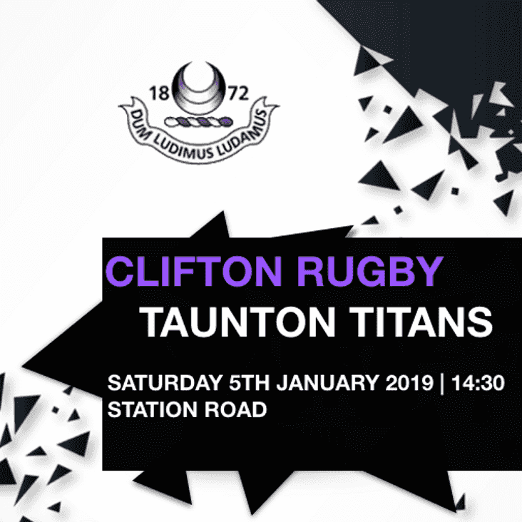 Clifton name team to face Taunton Titans