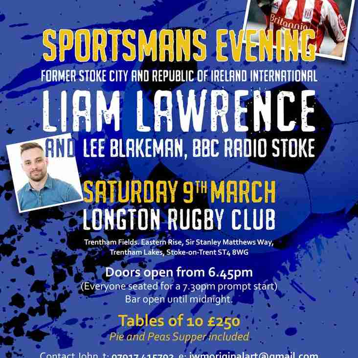 Sportsmans Evening with Liam Lawrence