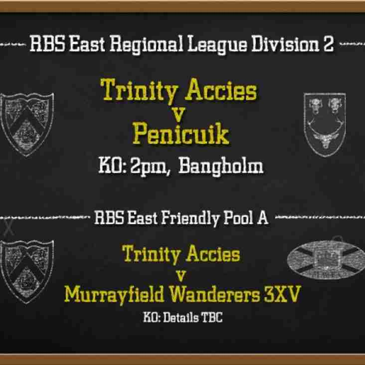 RUGBY THIS WEEKEND - LEAGUE