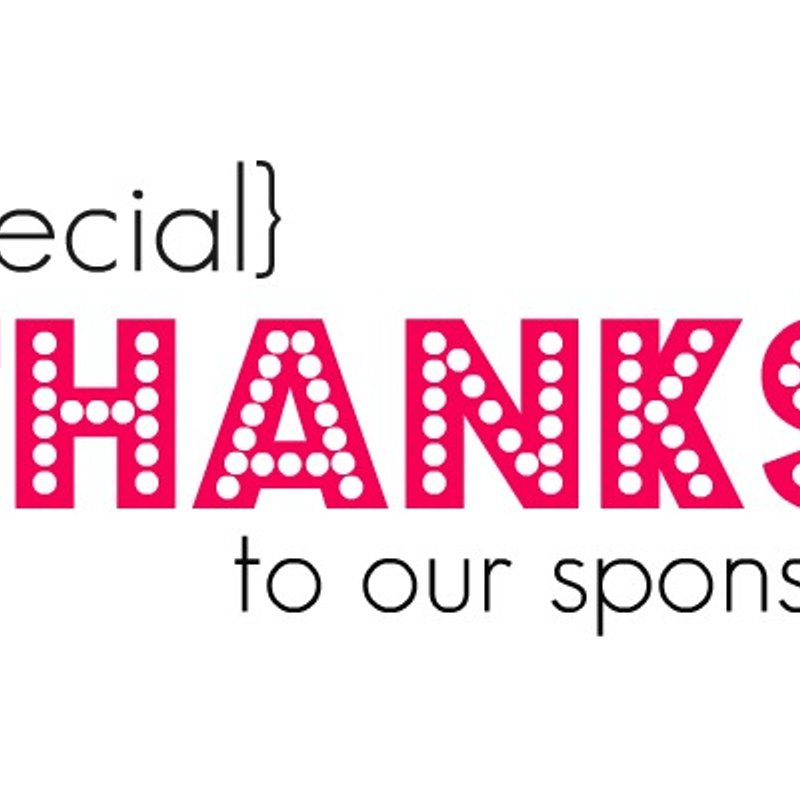 A special thank you to our sponsors!