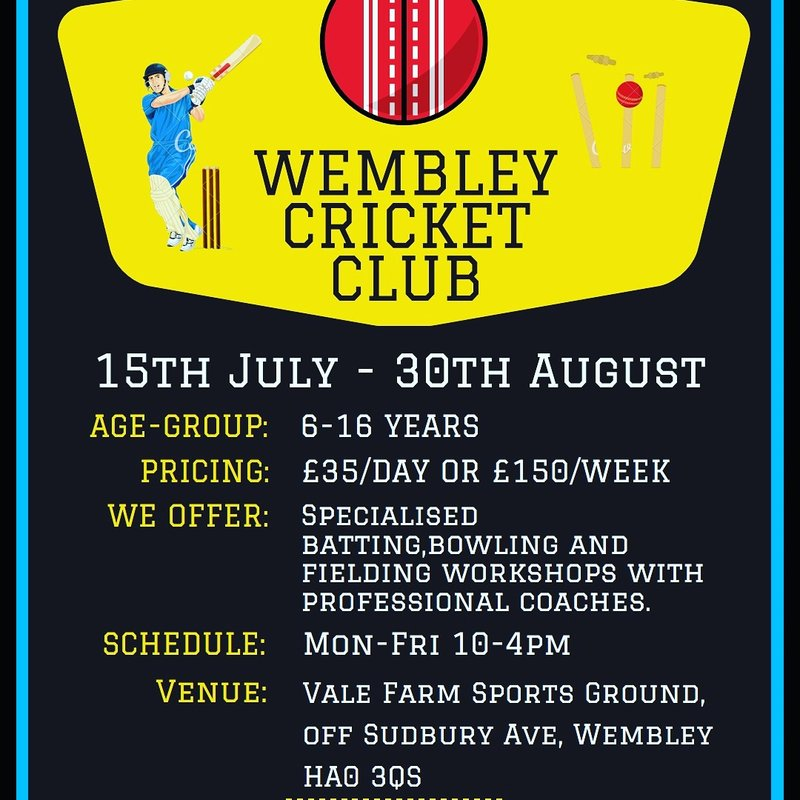 6 - 16 yr Old Summer Camp at Wembley CC