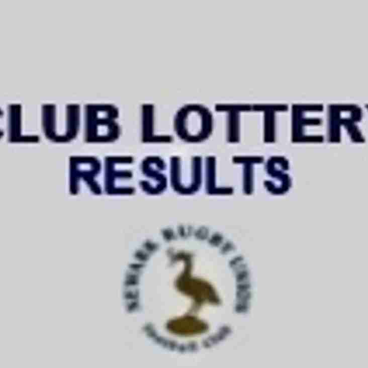 Updated - Latest Club Lottery & 100 Club Results