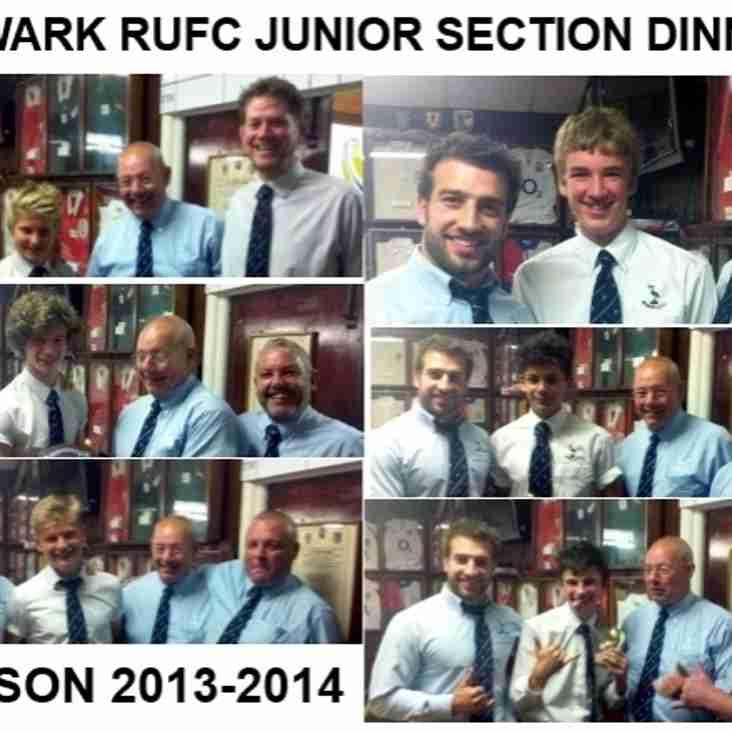 Newark boys Junior Section dinner