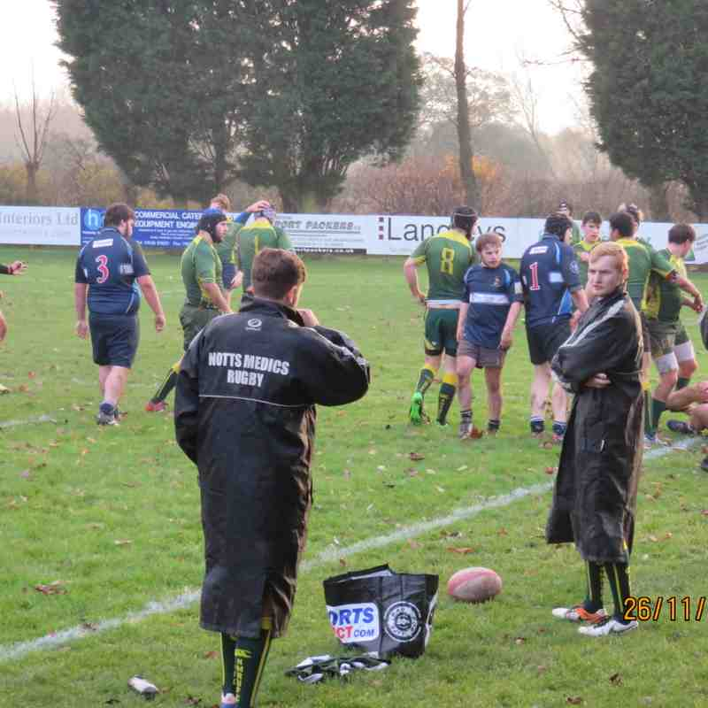 Newark 2nds 10 v Notts Medics 40, 26th November 2016