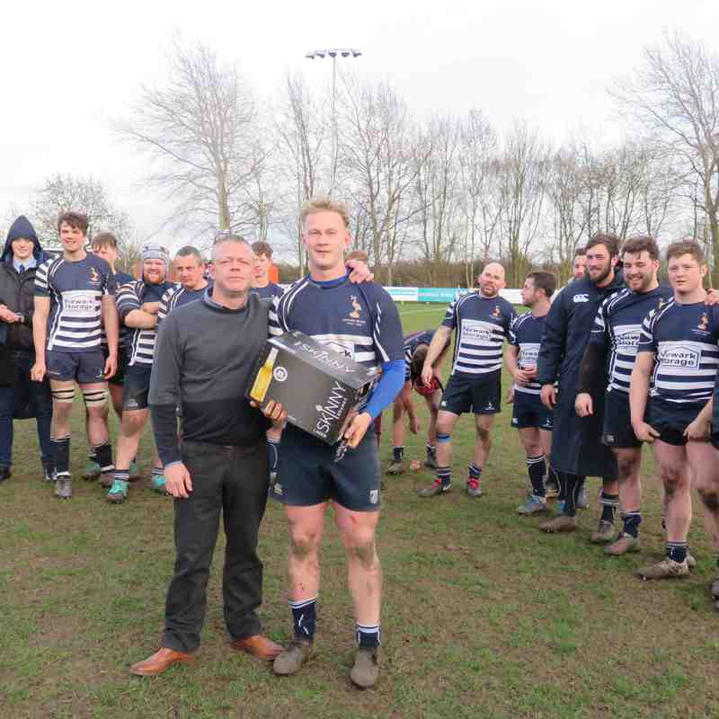 Newark 1st XV v Matlock 8th March 2019
