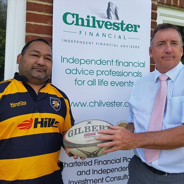 Marlborough RFC welcomes Chilvester as one of its sponsors<