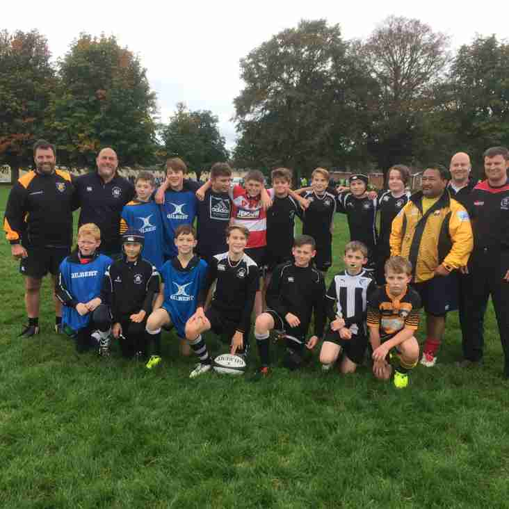 Joint Marlborough and RWB Under 13s enjoy training