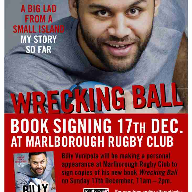 Billy Vunipola visits Marlborough RFC