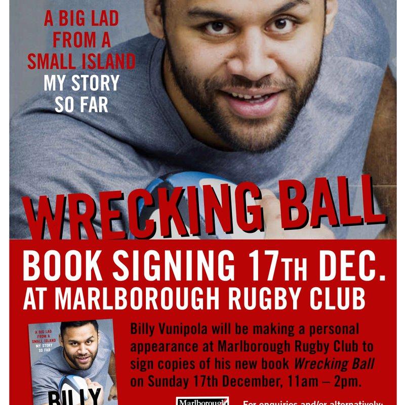 Billy Vunipola visits Marlborough RFC