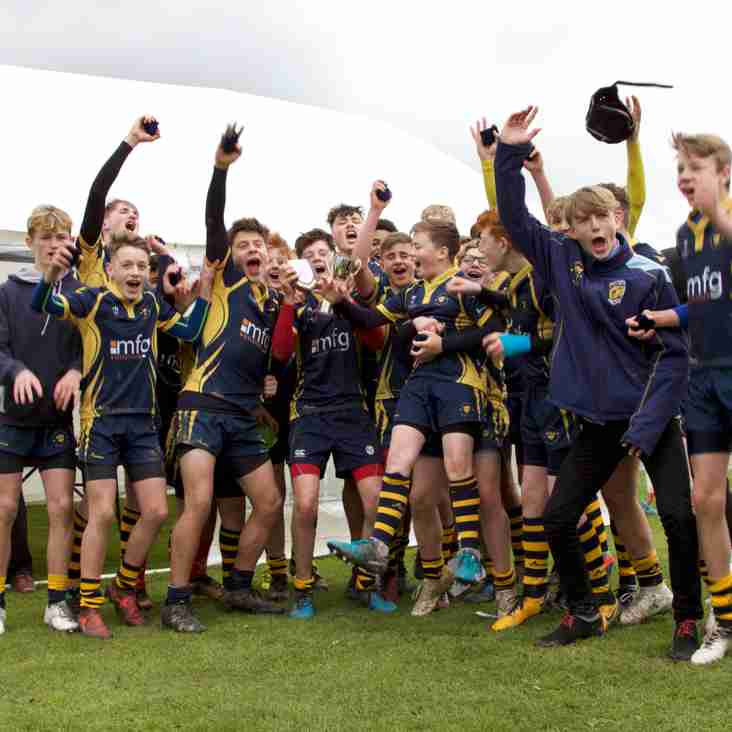 Under 14's Win hard fought North Mids Cup Final