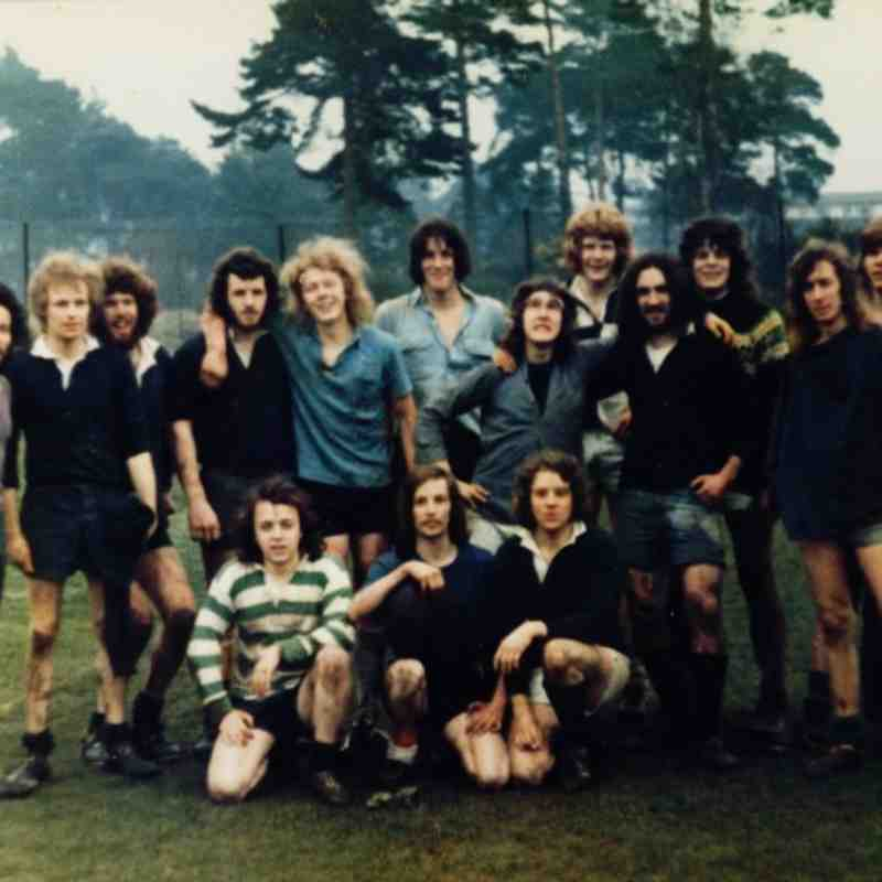 Farnham Rugby Club - How it all started - c1972 - A motley crew indeed!