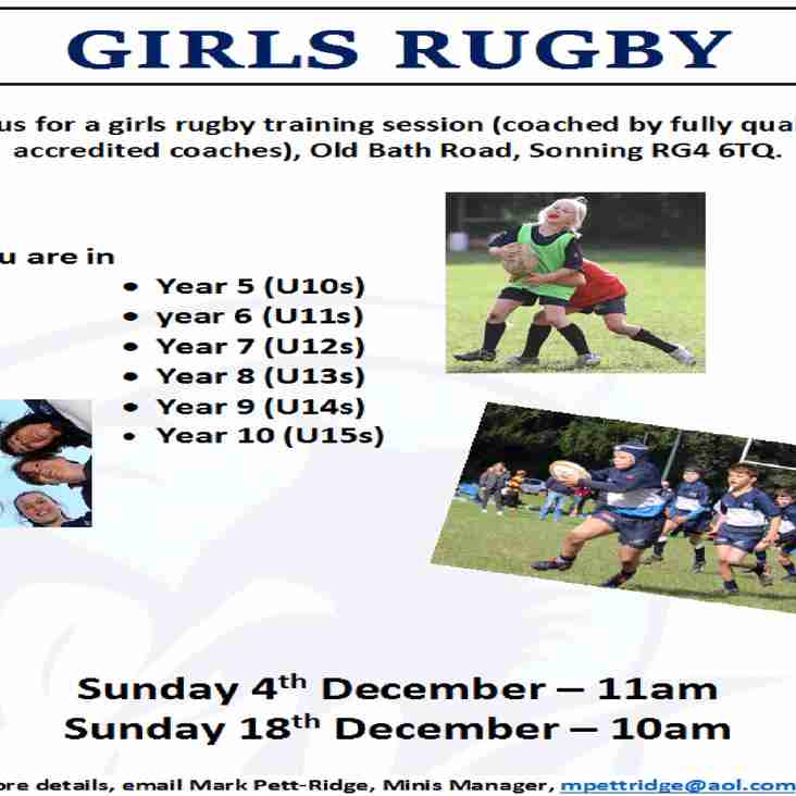 Girls Rugby Continues at Rams