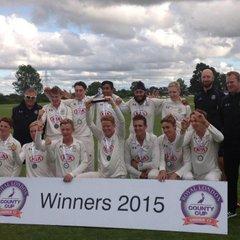 U17s Cup winners 2015
