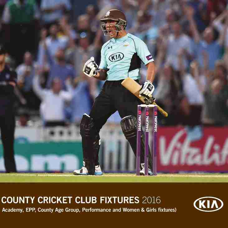 Surrey CCC - Youth Fixtures 2016