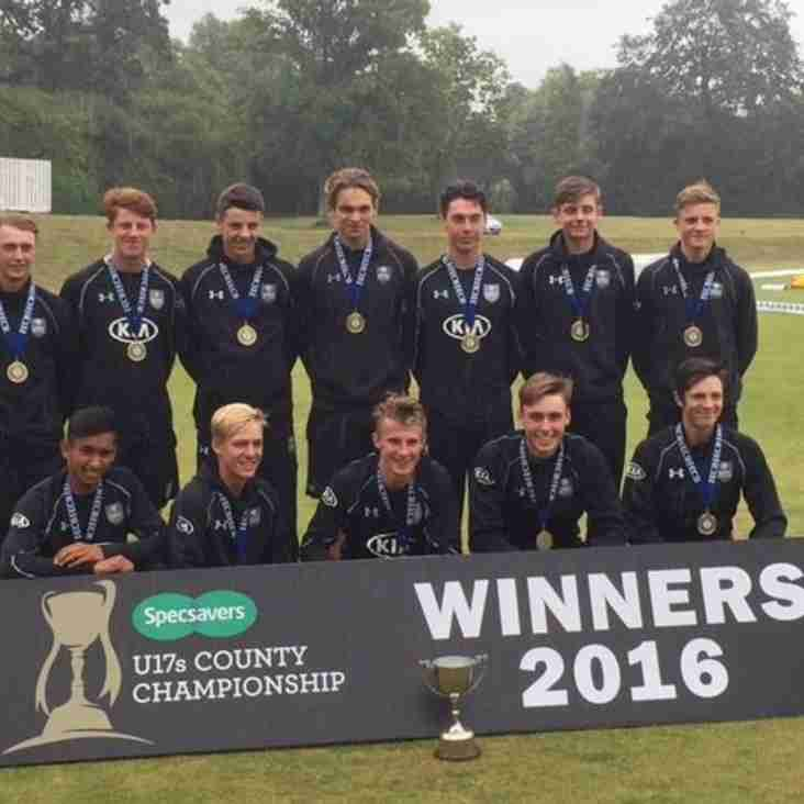 Surrey U-17s are 2016 County Champions!
