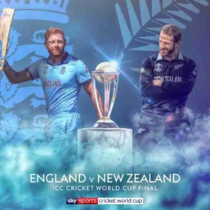 Watch the cricket World Cup final at Mill Lane