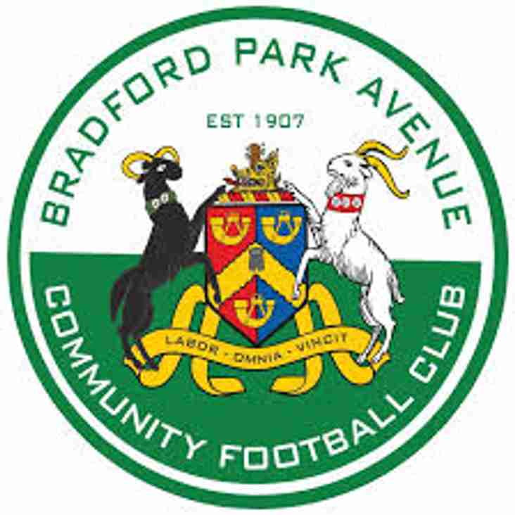Bradford Park Avenue Kick-Off Brought Forward