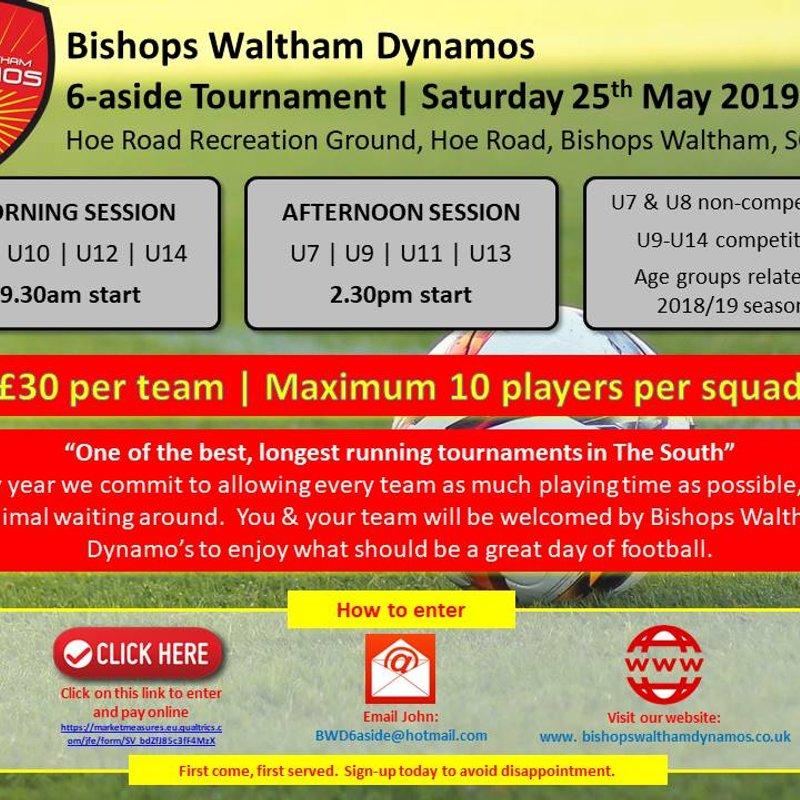 Bishops Waltham Dyanmos 6-aside Tournament