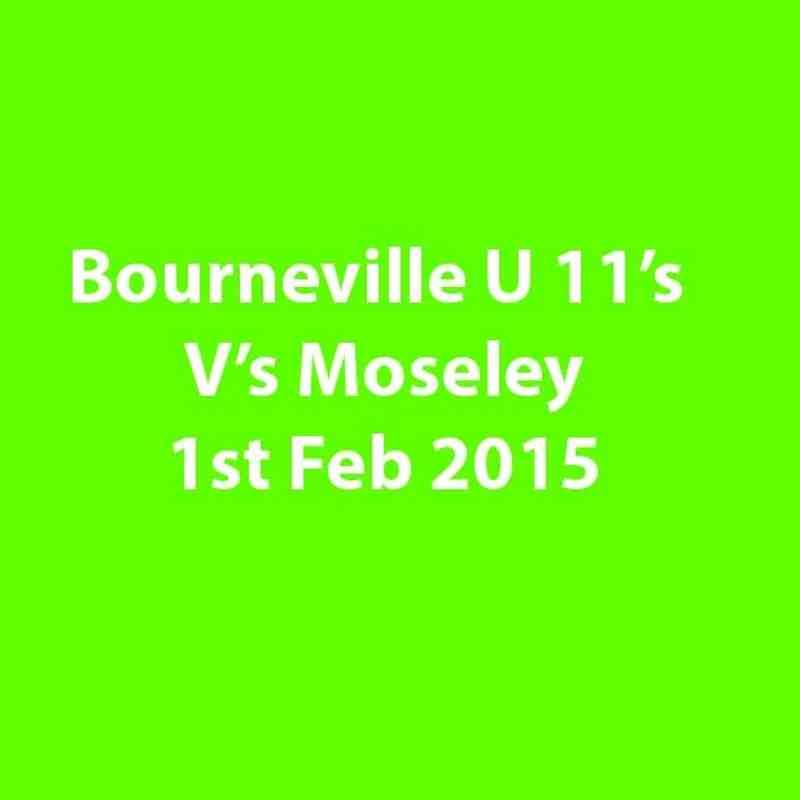 Bourneville U 11's V's Moseley U 11's