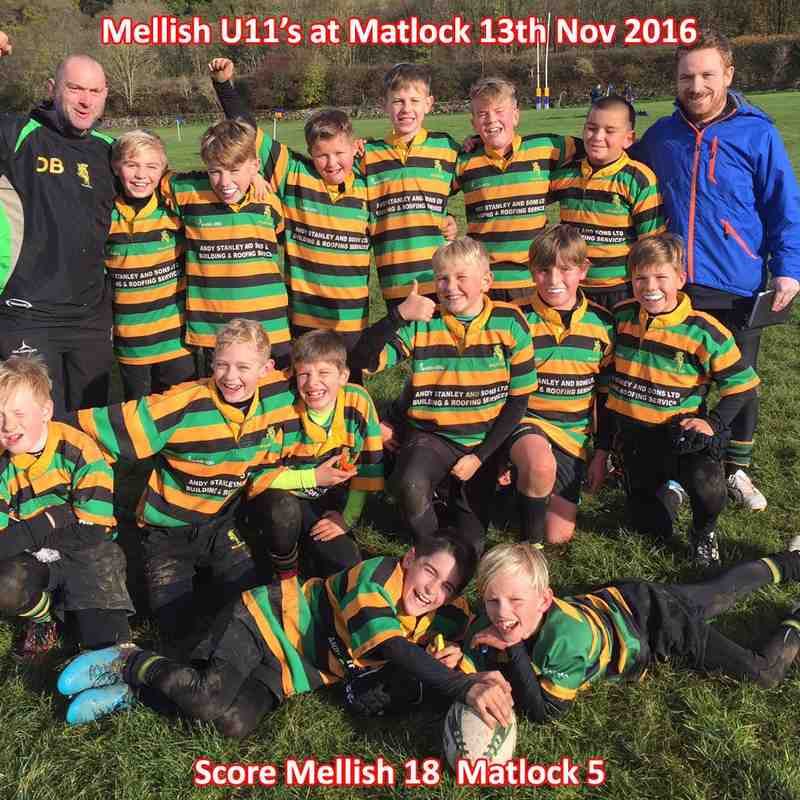 Mellish U11's at Matlock 2016