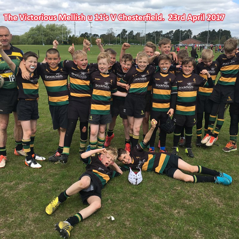 Mellish u 11's V Chesterfield 23rd April 2017