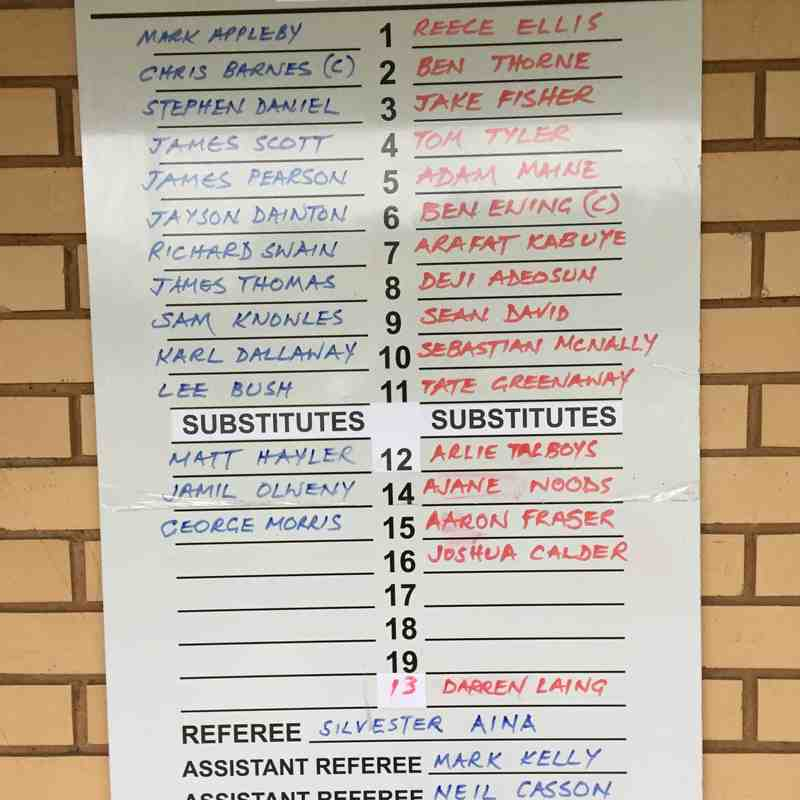 Fleet Spurs v Chessington & Hook Utd