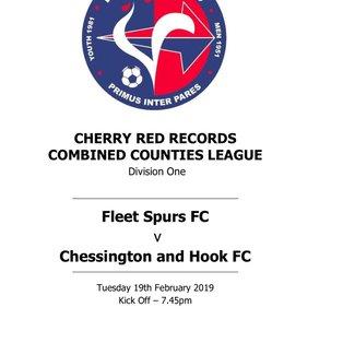 Fleet Spurs 1 - 2  Chessington & Hook United