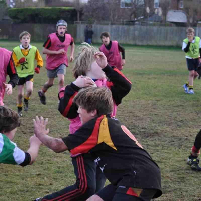 Under 12's Training 02nd Feb 2012
