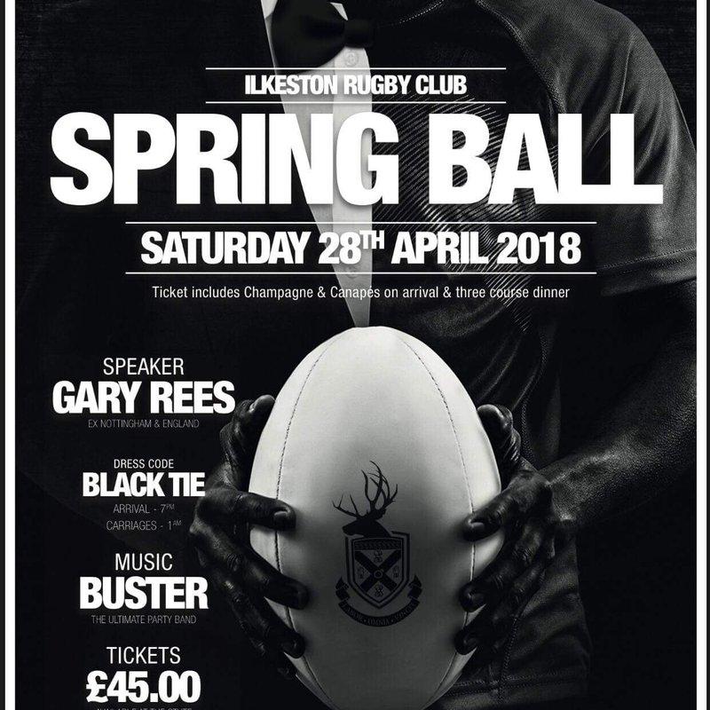 Club Spring Ball 28th April 2018 7pm