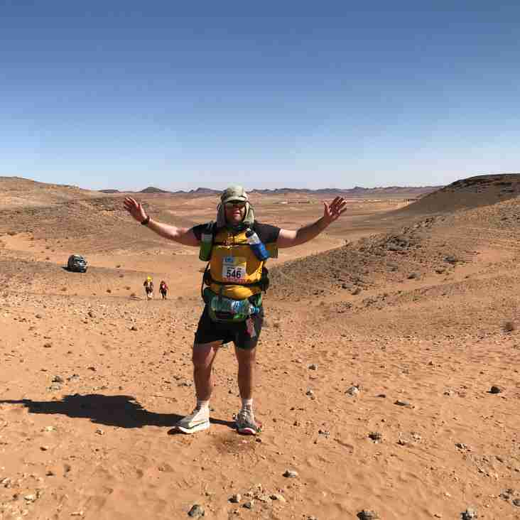 Anthony Mills , Former 1st team prop , has just RUN the Marathon des sables...............