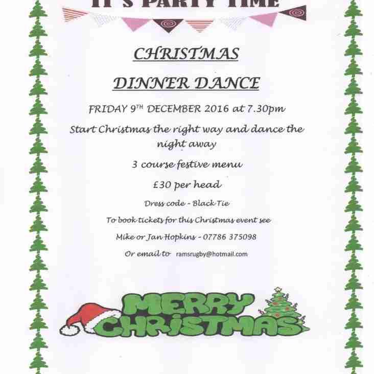 CHRISTMAS DINNER DANCE FRIDAY 9TH DECEMBER
