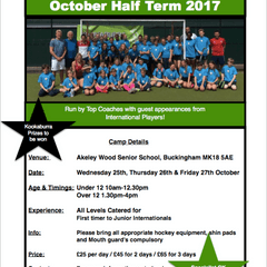 October Half Term Hockey Club