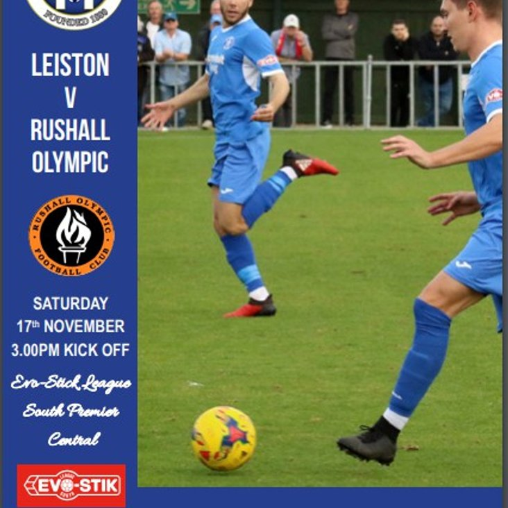 Blues v Rushall Olympic Programme now online<