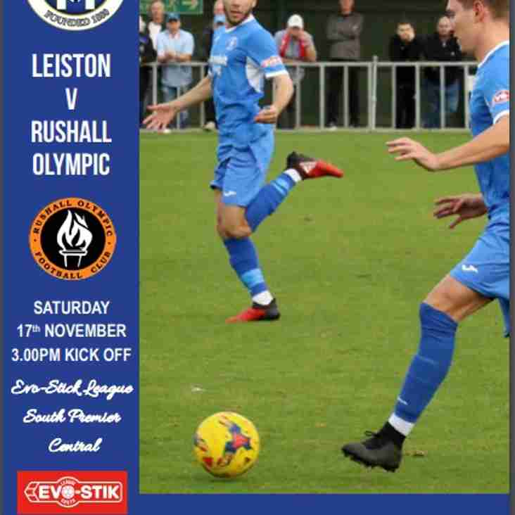 Blues v Rushall Olympic Programme now online