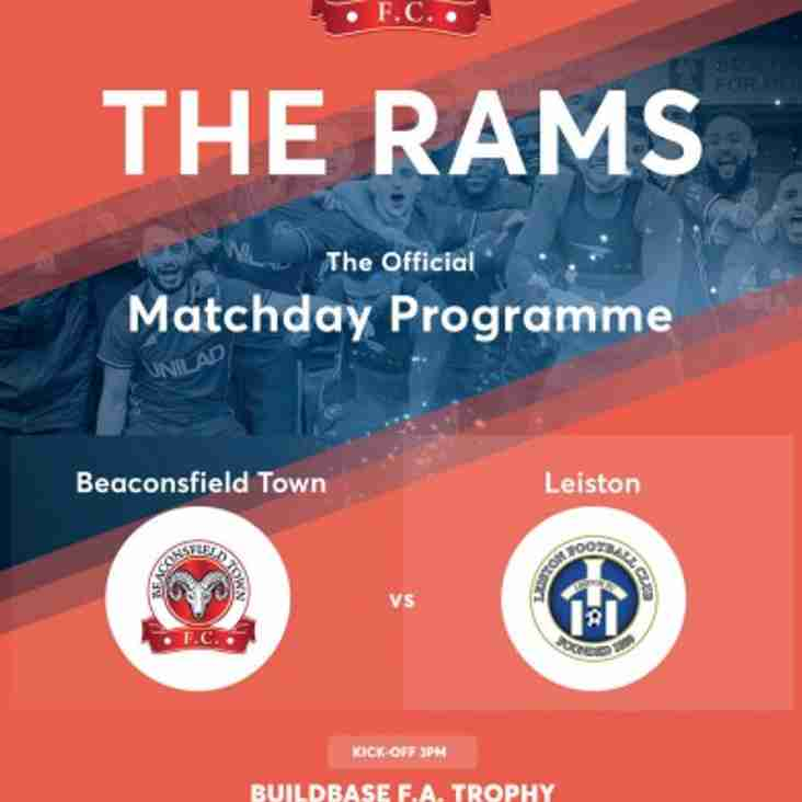 FA TROPHY AWAY Programme now available