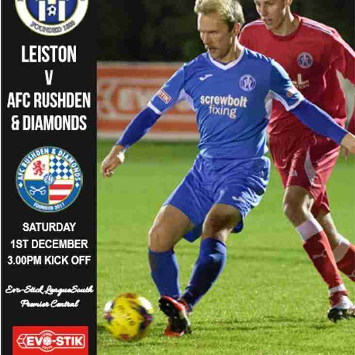 Rushden & Diamonds Programme now available 'Online'